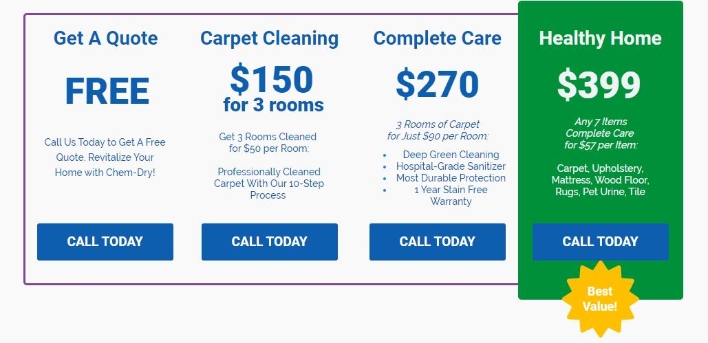 Cleaning Coupons Specials Chem Dry Of Richmond